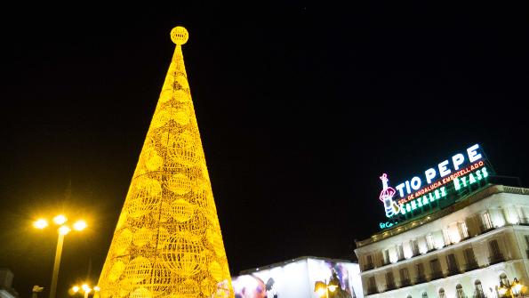 Árbol y luces de Navidad de la Puerta del Sol 2015 2016