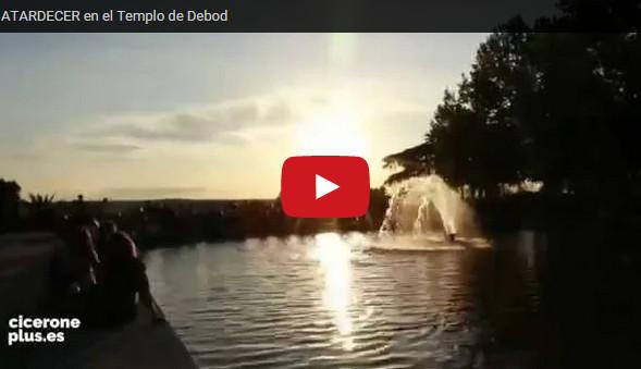 Video Atardecer en el Templo de Debod
