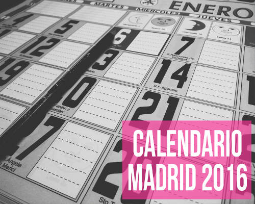Calendario laboral Madrid 2016