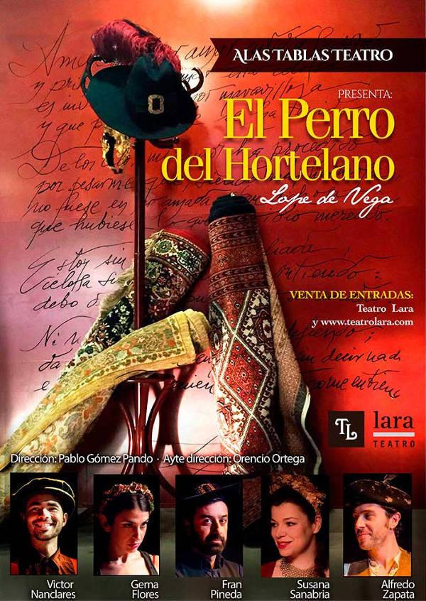 Cartel El Perro del Hortelano Sala Off Teatro Lara