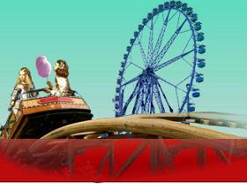 Imagen de las Meninas niñas en el parque de atracciones, prediseñada por QueHacerEnMadrid.com