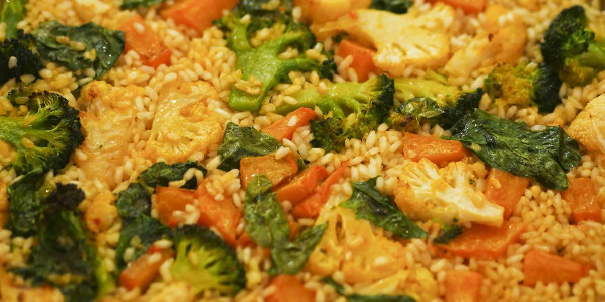 Paella de verduras | Arrocería Marina Ventura