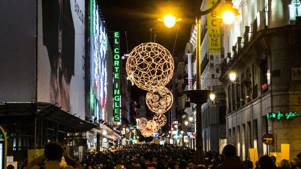 Qué hacer en Madrid en Navidad 2015 - calle Preciados, Madrid centro