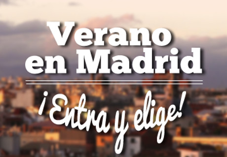 Qué hacer en Madrid en verano, imagen diseñada por QueHacerEnMadrid.com