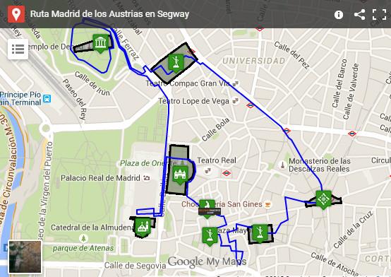 Ver mapa Ruta Madrid de Los Austrias