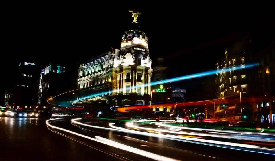 Imagen de Madrid por la noche
