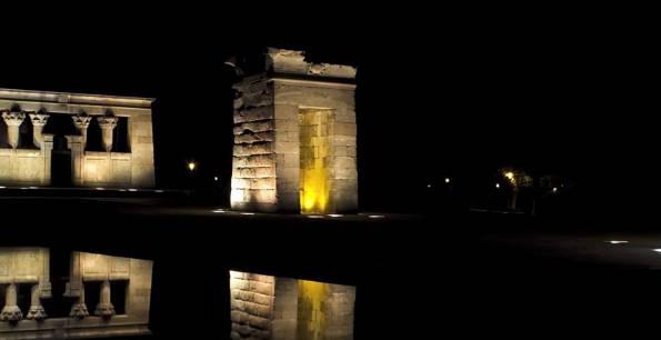 El Templo de Debod por la noche