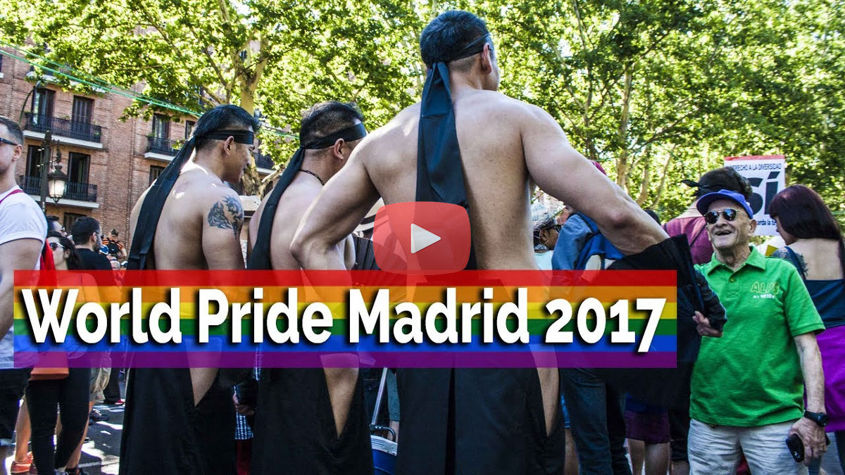 Video World Pride Madrid 2017: manifestación y desfile de carrozas del Orgullo Madrid 2017